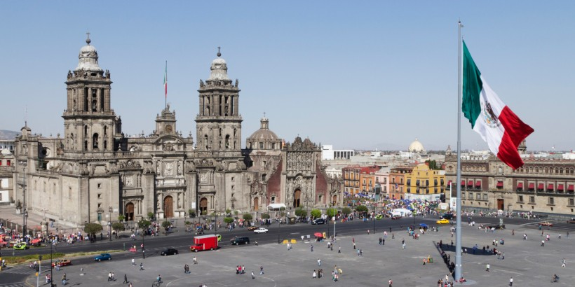Elevated view of the Metropolitan Cathedral